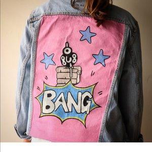 BANG hand-painted Jean jacket